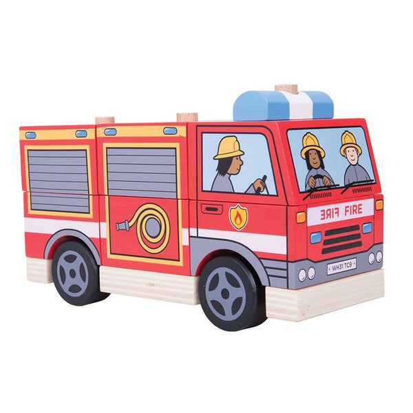 Stacking Fire Engine by Bigjigs Toys