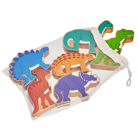 Dinosaurs - Bag of 6 wooden characters from Lanka Kade