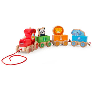 Tidlo Wooden Sensory Stacking Train