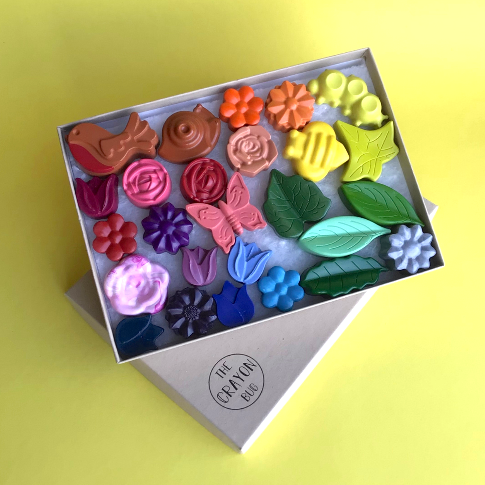 Rainbow Garden Crayons by The Crayon Bug