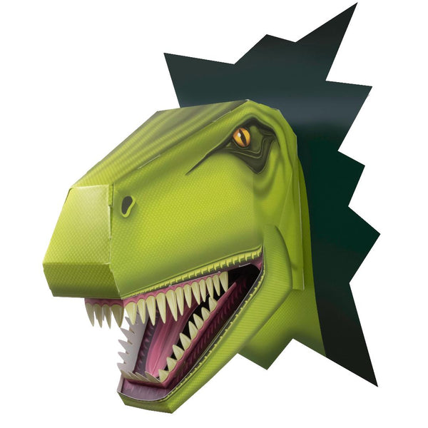 Makes this giant T-Rex head from this super cardboard construction kit