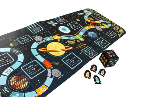 The board game side with fun play pieces