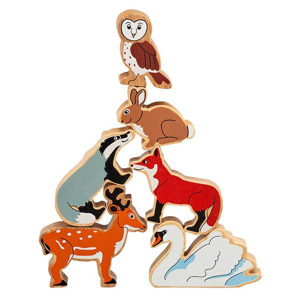 Woodland Animals - Bag of 6 wooden characters from Lanka Kade