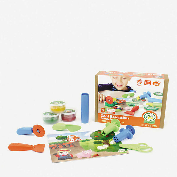 Green Toys dough set with seven sculpting pieces and two tubs of organically made dough