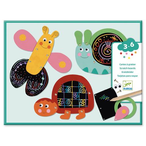 Scratch Boards Funny Animals from Djeco