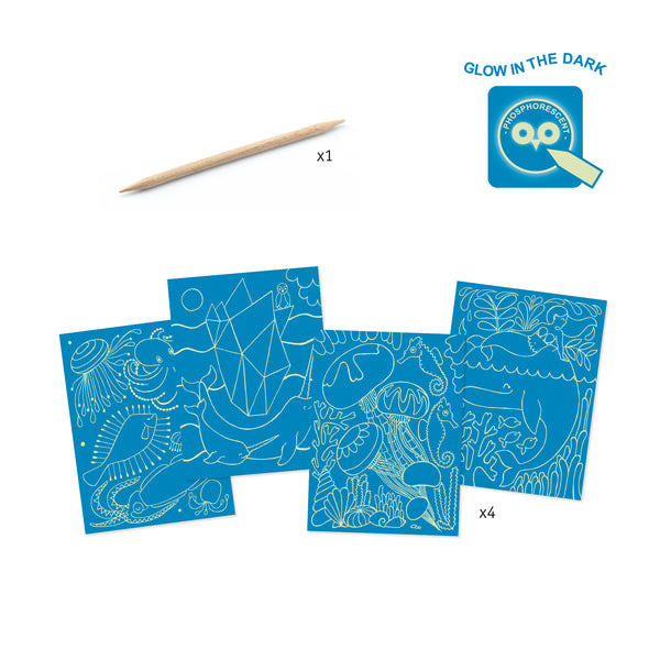 Sea life Scratch Cards by Djeco