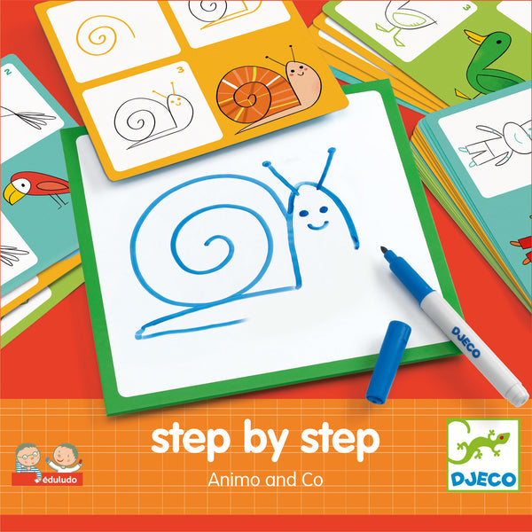 Step by Step Drawing - Animals by Djeco
