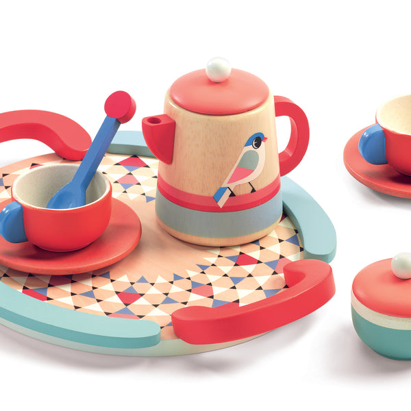 Wooden Tea Set by Djeco