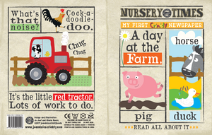 Nursery Times Crinkly Book Newspaper - A Day at the Farm