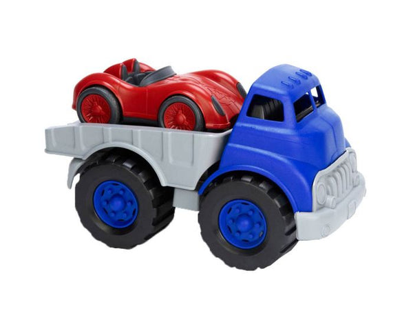 Flatbed Truck with Race Car by Green Toys