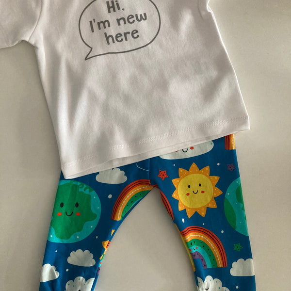 Baby Gift Set - Happy Planet Leggings & T-Shirt