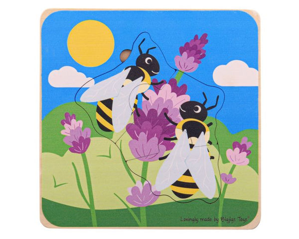 Wooden Lifecycle Puzzle - Honeybee from Bigjigs Toys