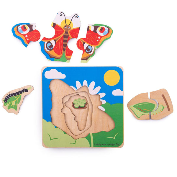 Wooden Lifecycle Puzzle - Butterfly from Bigjigs Toys