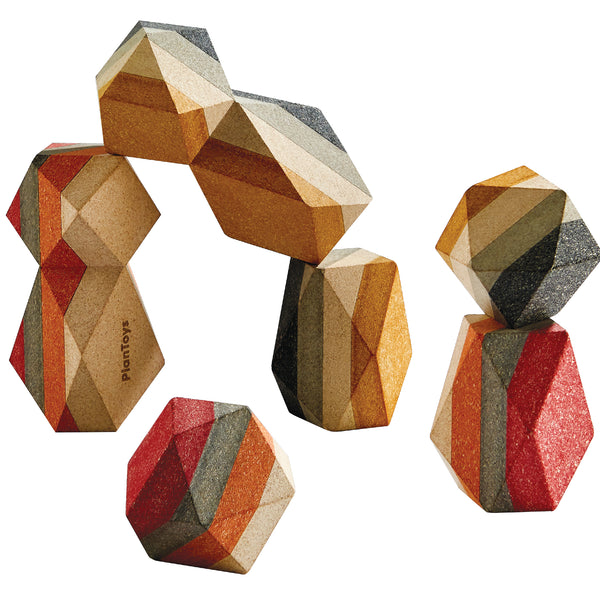 Geo Stacking Rocks from Plan Toys