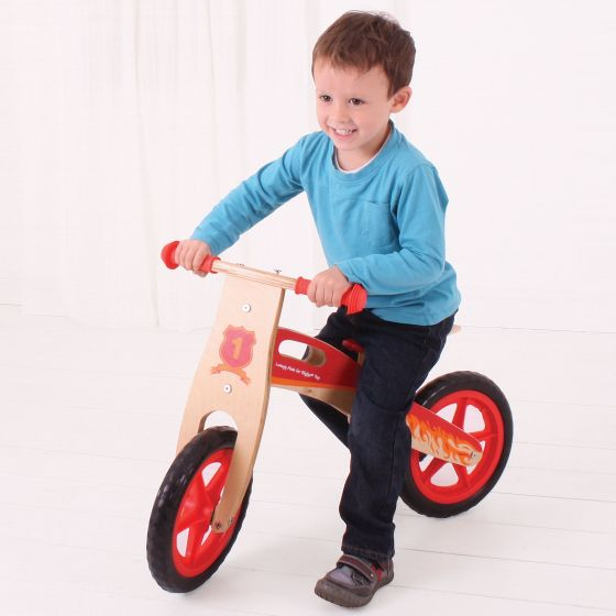 My First Balance Bike (Red) from Bigjigs Toys