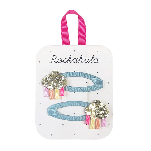 Rainbow Cloud Glitter Clips from Rockahula