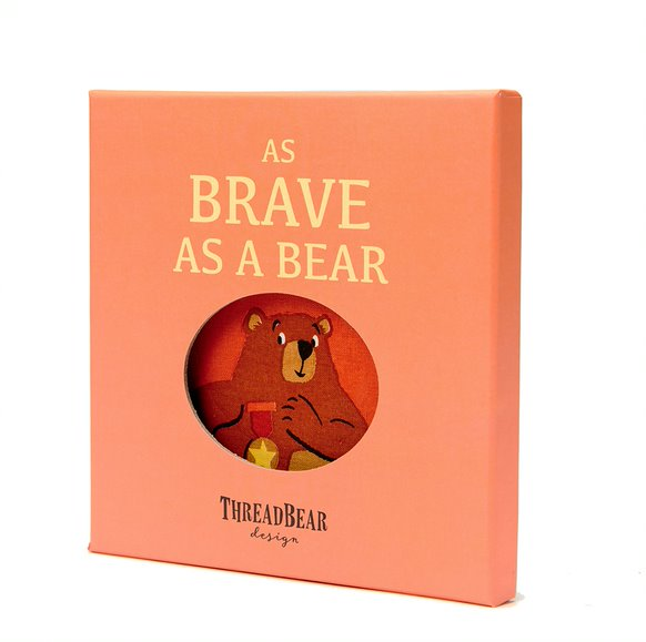 As Brave as a Bear Cloth Book from ThreadBear Toys