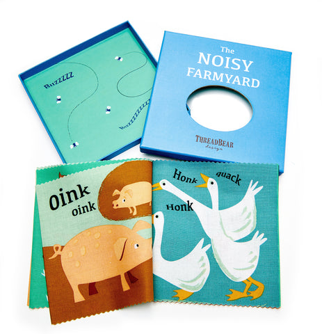 Noisy Farmyard Cloth Book from ThreadBear Toys