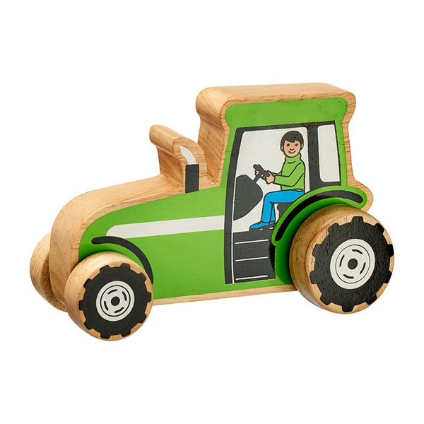 Green Tractor Push Along from Lanka Kade