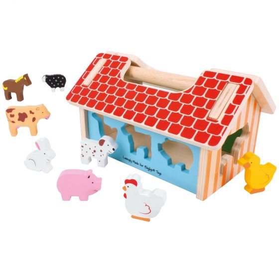 Wooden Farm House Shape Sorter from Bigjigs Toys