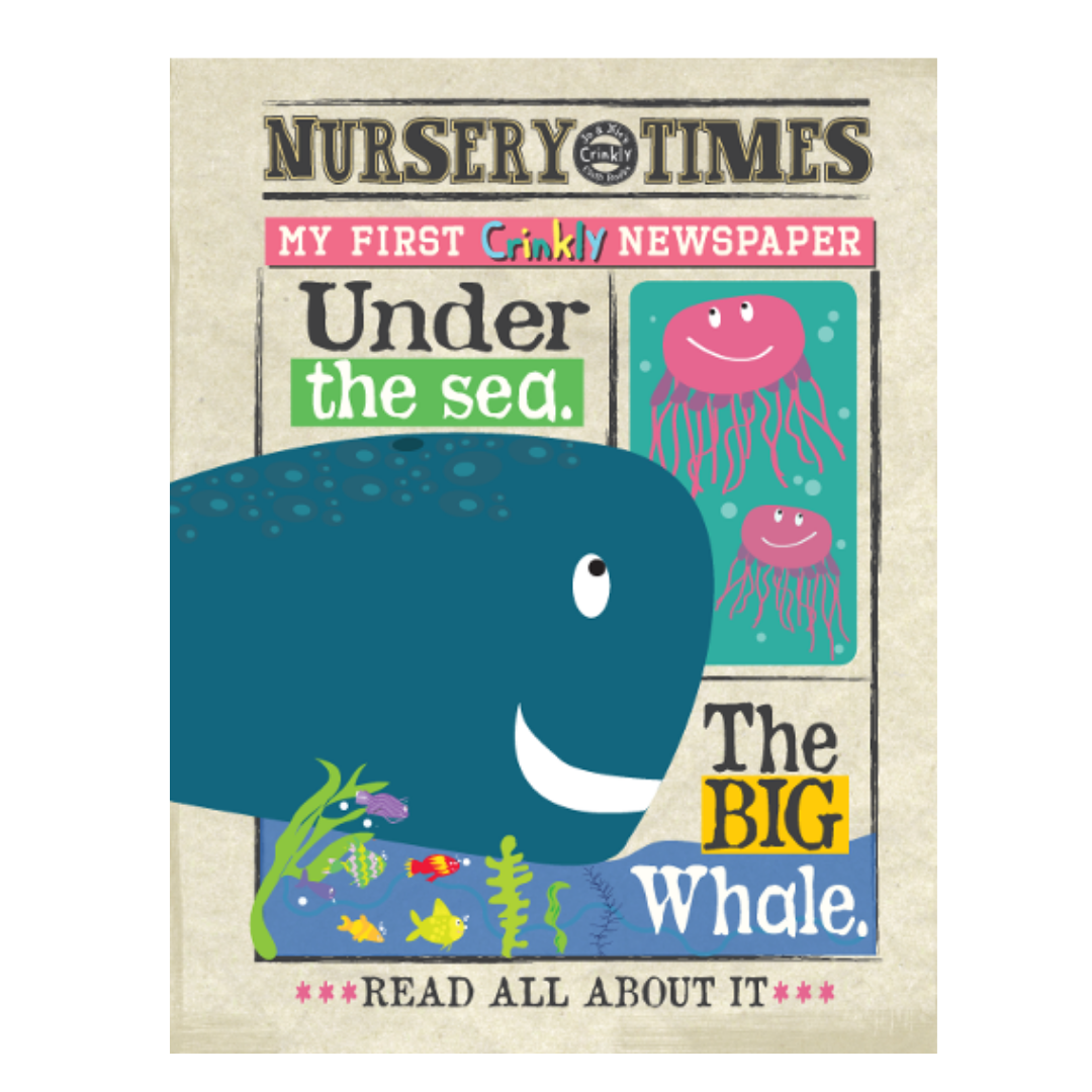 Nursery Times Crinkly Book Newspaper - Under The Sea