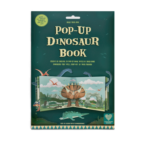 Make Your Own Pop Up Dinosaur Book from Clockwork Soldier