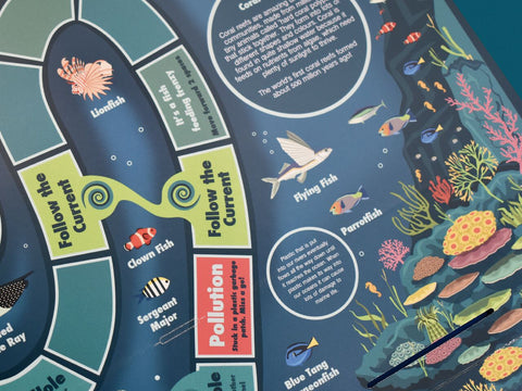 Learn lots of new facts about sealife - this image shows a close up