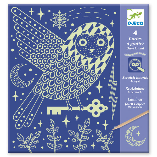 Glow in the Dark Scratch Cards - Night by Djeco