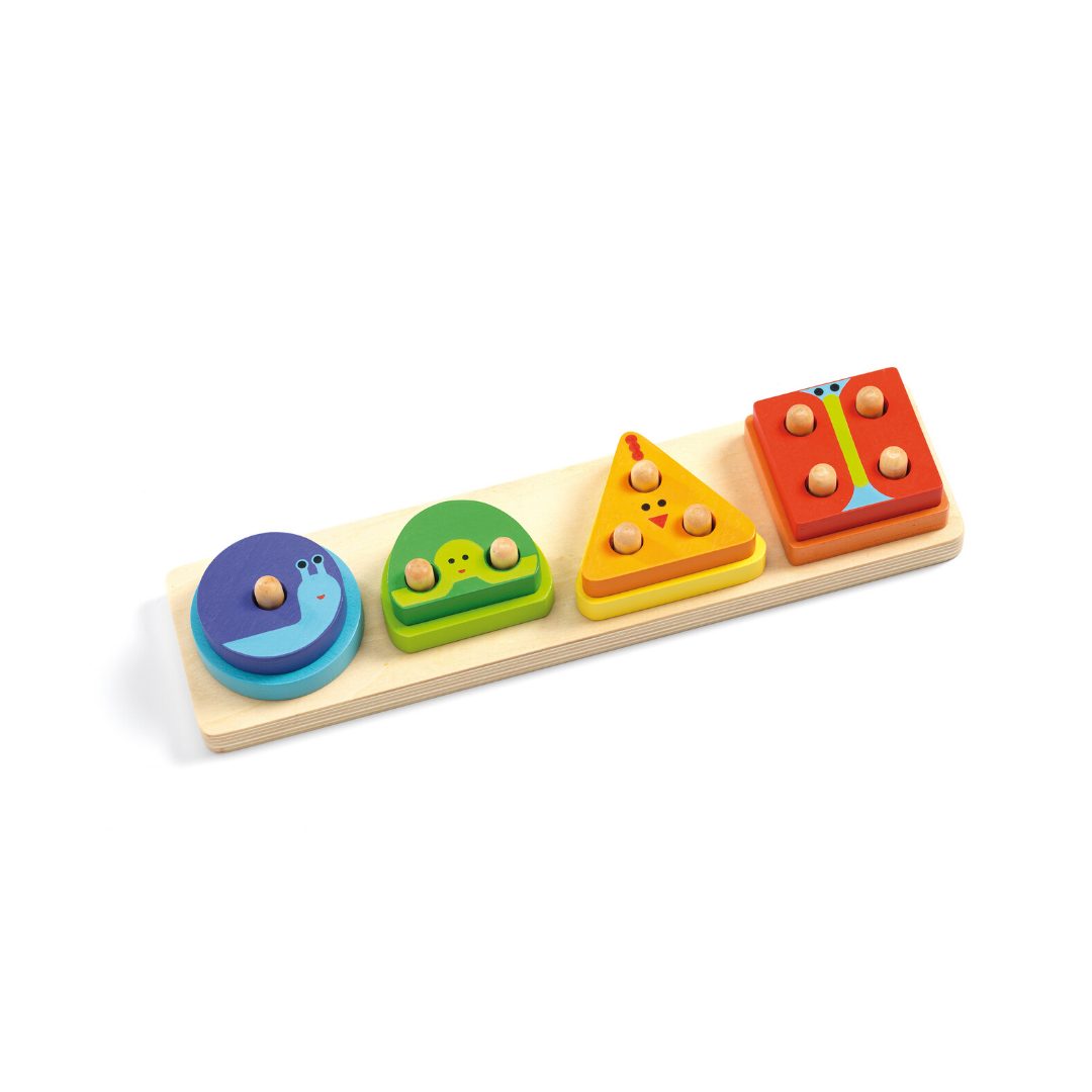 Lovely wooden shape sorter puzzle in bright colours
