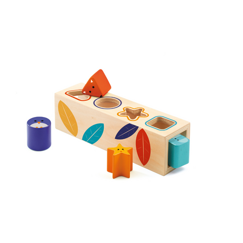 Lovely wooden shape sorter in autumnal colours