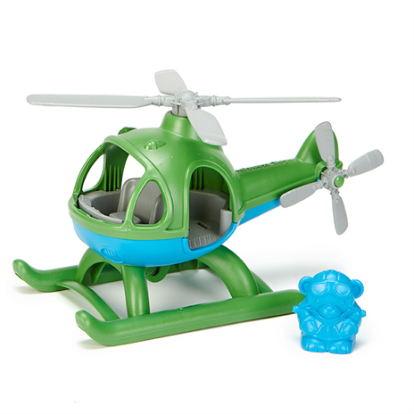 Have lots of green fun with this Helicpoter and mini pilot from Green Toys