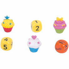 Load image into Gallery viewer, ZooBooKoo Cupcake Dice Mental Arithmetic Game - Level 3