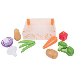 Bigjigs Toys Wooden Vegetable Crate