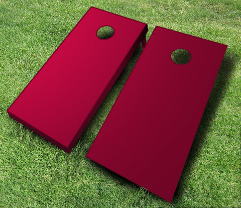 maroon cornhole boards