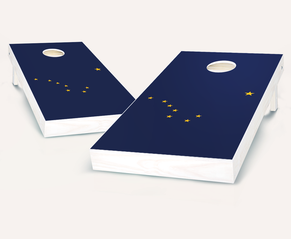 Alaska Flag Cornhole Boards