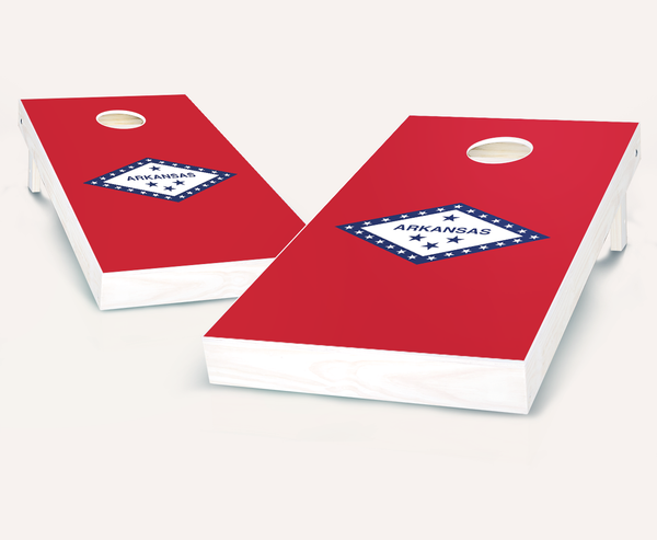 Arkansas Flag Cornhole Boards
