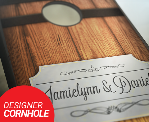 Barrel Plaque Cornhole Boards