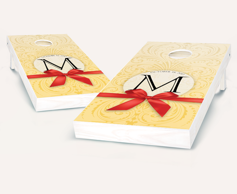 Wedding Bow Cornhole Board