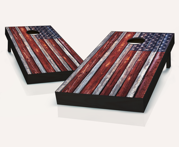 Distressed American Flag Cornhole Boards