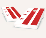 District of Columbia Flag Cornhole Boards