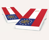 Georgia Flag Cornhole Boards