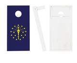 Indiana Flag Cornhole Boards