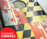 Maryland Flag Cornhole Boards
