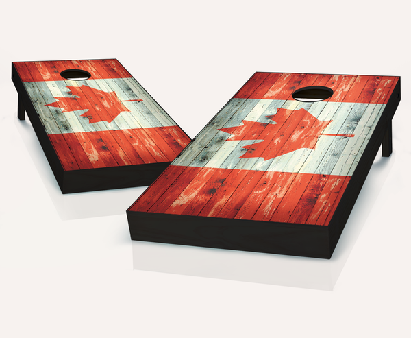Distressed Canadian Flag Cornhole Boards