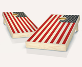 Stained American Flag Cornhole Boards