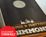 Personalized Rustic Cornhole Boards