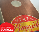 Stained Bottle Cap Cornhole Boards