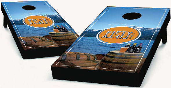Brewery Logo Cornhole Boards