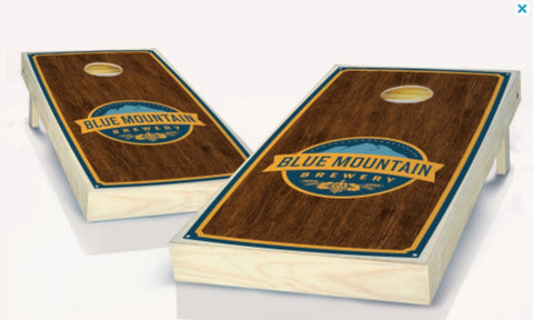 Blue Mountain Brewery Logo Cornhole Boards