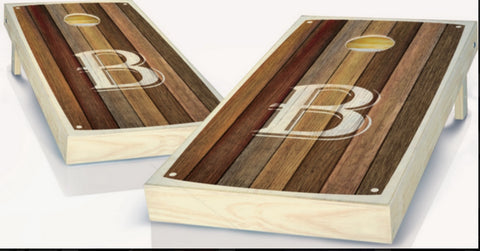 Custom Monogram Cornhole Boards - B